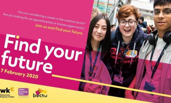 Come and talk to us at 'Find Your Future' on Friday 7 Feb 2020